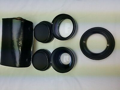 Kentar Aux lens set wide angle and telephoto SER-Vll 52mm W/case