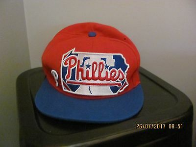 New Era Phillies Baseball Cap Size 7.5 (59.6 Cm) P/up Or Post