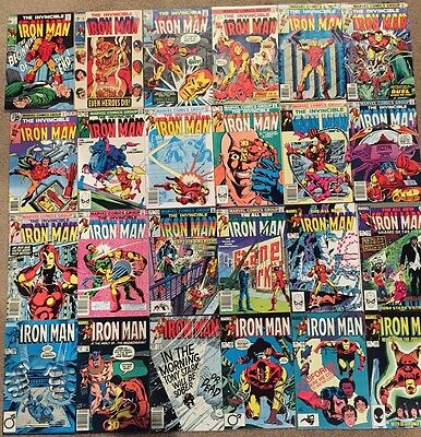 125 Iron Man Marvel comic book lot: #'s 1, War Machine, Age of Innocence, etc.