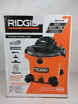 RIDGID WD1270 12 Gallon Wet/Dry Vac C0501 A61