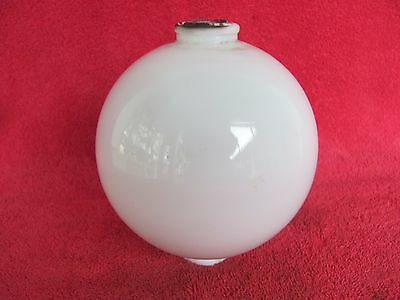 Vintage White Milk Glass Lightning Rod Ball Diameter Cabin Home Yard Garden Deco