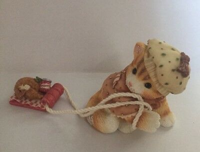 Enesco Calico Kittens- Friends Are A Feast Worth Sharing- 1998