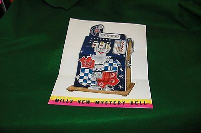 old one arm bandit slot machine flyer MILLS NEW MYSTERY BELL