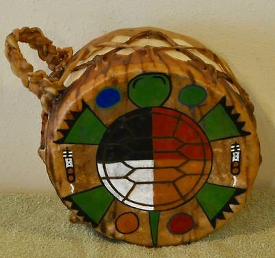 Sacred Turtle/Native American Drum Painted by Lakota Artist Sonja Holy Eagle