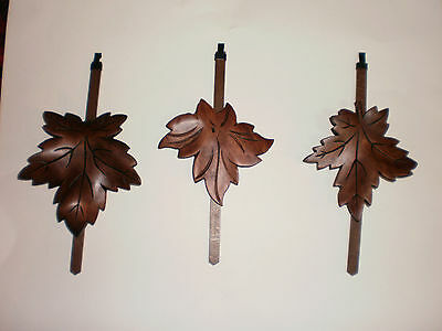 3 Large   Cuckoo Clock Pendulum , works  with  antique large  clocks .