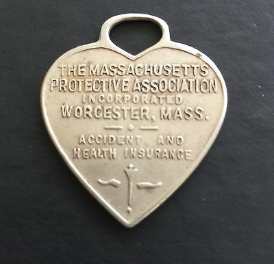 Massachusetts Protective Association Worcester MA Accident ID Tag Coin Token