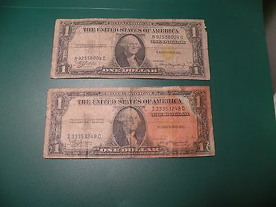 2 1935A  Note $1 One Dollar Bill  YELLOW SEAL North Africa  T24