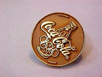 Vintage 1980's COCA COLA Olympic Collector Lapel Pin