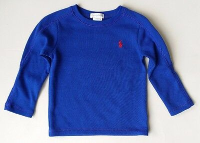 Ralph Lauren Long Sleeve Thermal T-Shirt Baby boy 18 months Blue EXCELLENT