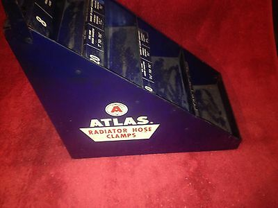 Vintage 50's Era Atlas Esso Chevron Standard Oil Hose Clamp Counter Top Display