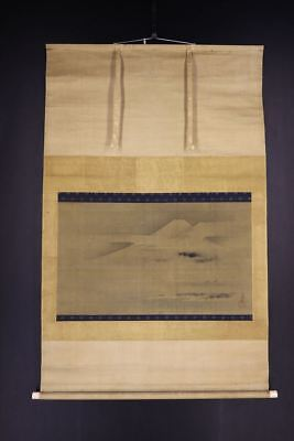 JAPANESE HANGING SCROLL ART Painting Kano Tsunenobu 1636-1713   #E7095