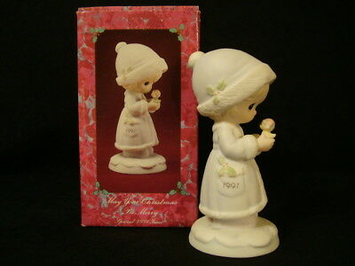 Precious Moments-May Your Christmas Be Merry-1991 Limited Edition Figurine-Nice