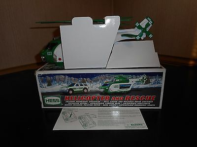 Hess Toy Truck 2012 Helicopter And Rescue Mint Condition W/damaged Box