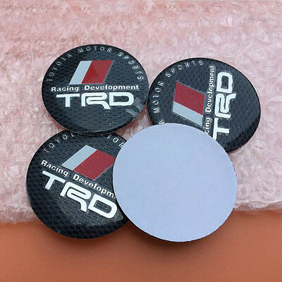 4pcs 56.5mm TRD Car Wheel Center Hub Caps Sticker Emblem Badge Styling Mix-color