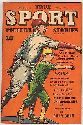 True Sport Picture Stories v3 #1 (#25) (VF) (1945, Street & Smith) HIGH GRADE!
