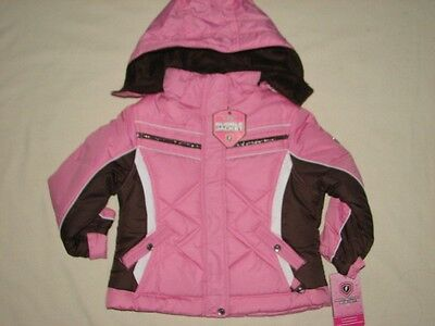 NWT 10 Protection System Girls Pink Bubble Winter Hoodie Ski Jacket Resale Lot