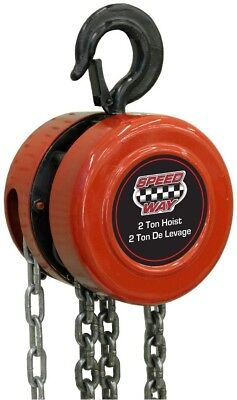 Speedway 2 Ton Chain Hoist MPN/Model 7519 Maximum extension of 10 ft Drop Forged