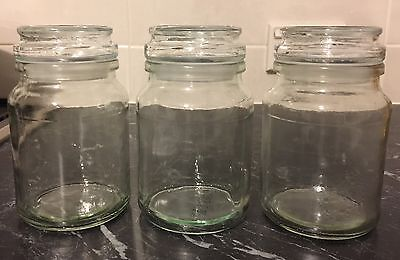 Glass Jar with Lid x3