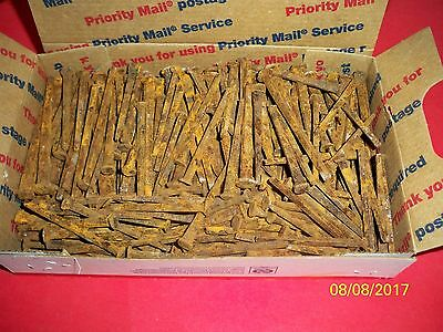 Approx. 250 Square Nails, Two sizes, Most unused, Approx. 5 3/4 Pounds.