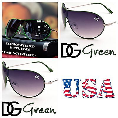 DG Eyewear Retro Bike Cycling Shield Sport Sunglasses UV Shades Avistor GREEN