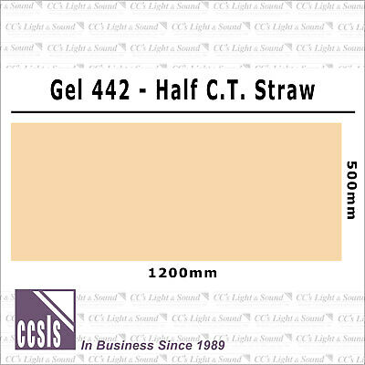 Clear Color 442 Filter Sheet - 1/2 Colour Temp Straw