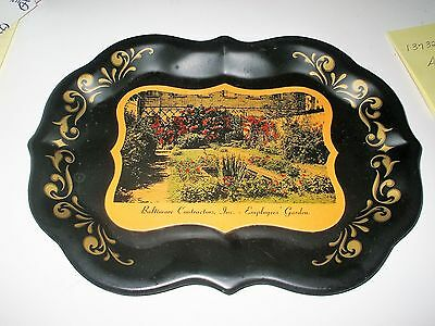 Vintage Baltimore, MD Advertising TRAY - Baltimore Contractors Inc.