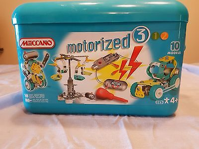 Meccano Construction set Motorized 3 (10 models) with box #760262