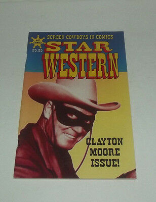 Neat 2001 Acg Comics Star Western Comic Book Clayton Moore Issue