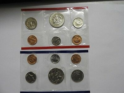 1987 United States Mint Uncirculated Coin Set D & P Mintmark