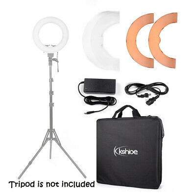 "12"" 180Pcs LED Dimmable Photo Video Continuous Ring Light Kit Stand Carry Bag US"
