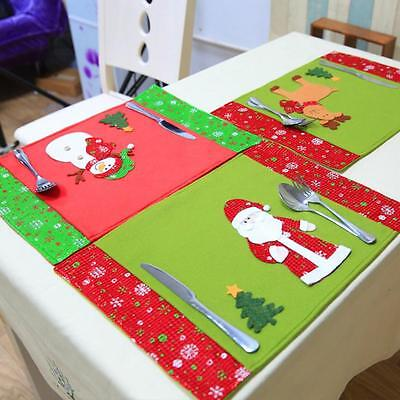 Stylish Christmas Decoration Table Pad Western Restaurant Waterproof Placemats