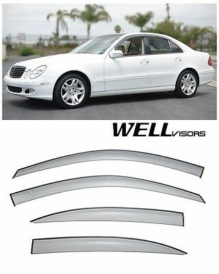 For 03-09 MB E-Class Sedan WellVisors Side Window Visors Premium Series