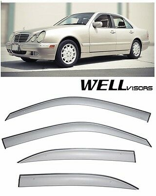 For 96-02 Mercedes-Benz E-Class WellVisors Side Window Visors Premium Series
