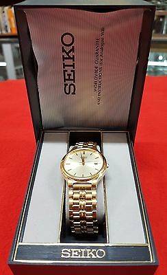 Vintage Seiko Mens Quartz Watch In Original Box