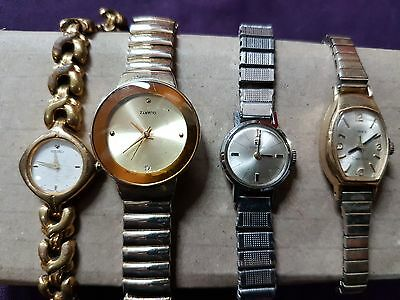 Mixed Lot Of 4 Watches Old And Vintage