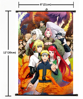 Japan Anime Naruto Akatsuki All member cute home decor Wall Scroll Poster 2436