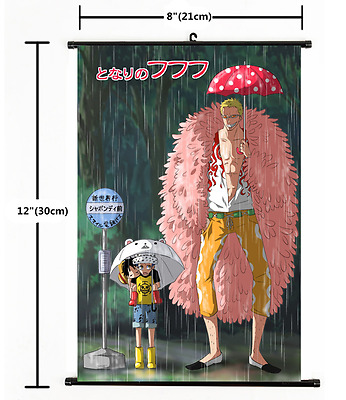 Anime One Piece Luffy Law Joker cosplay home decor Wall Scroll Poster 2447
