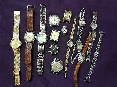 Mixed Lot Of 15 Watches Old And Vintage