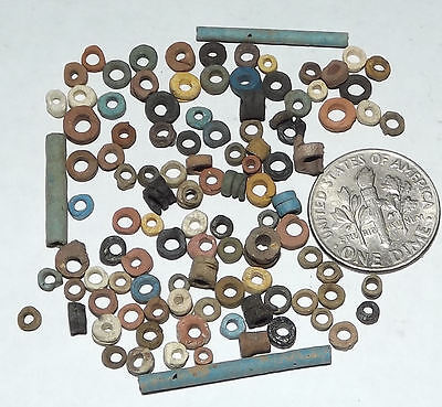 More than a Hundred 2500 Year old Ancient Egyptian Faience Mummy Beads (#G2612)