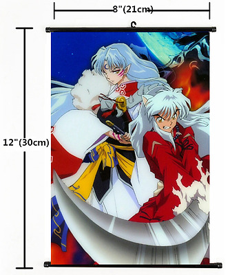 Hot Japan Anime InuYasha InuYasya Wall Poster Scroll Home Decor 1254
