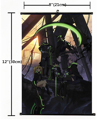 Hot Japan Anime Seraph of the end Wall Poster Scroll Home Decor 1273