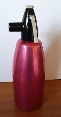 Vintage Retro Anodised Pink Soda Siphon