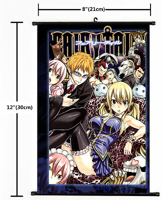 Japan Anime FAIRY TAIL home decor Wall Scroll Poster 1776