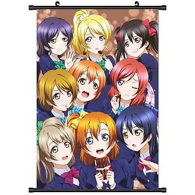 Hot Japan Anime Love Live μ's Wall Poster Scroll Home Decor 2578