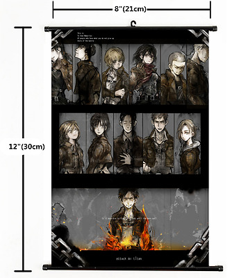 Anime Attack on Titan Mikasa Home Decor Poster Wall Scroll Cosplay 40*55cmCM-779