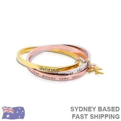 Disney Couture Tinker bell Tri Colour interlocking bangle OFFICIAL