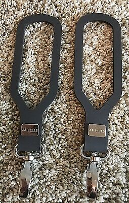 JJ Cole 2 Piece Dark Gray Clip On Diaper Bag Stroller Straps- Never Been Used