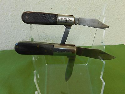 "Lot of 2 - Barlow 3 3/4"" Closed 2- Blade Pocket Knives - Damaged."