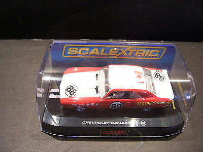 slot cars 1/32 scalextric chev camaro maurice carter  mint boxed