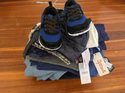 FREE POST Boys ALL NEW Bulk Winter Clothes Sz 2,12 Items,Quicksilver,Sprout